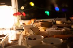 Brie And Blurred Lights At Night