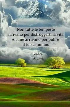 """Recovery in Italian: Carry This Message,"" Seneca. Translation: ""Not all storms come to destroy your life. Some come to clear your path. Words Quotes, Life Quotes, Sayings, Ego Vs Soul, Seneca Quotes, Wise Men Say, Daily Mood, Well Said Quotes, Italian Quotes"