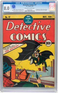 Detective Comics #27 y éste era Batman cuando empezó