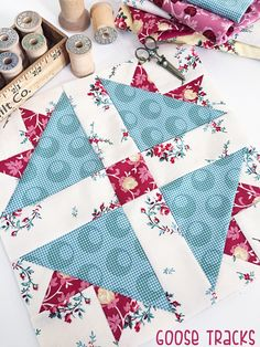 Hi there! Today I am ready to share my eighth block for the Raspberry and Cream Block of the Month!! ***We only have a couple of fini...