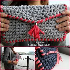 Fabric T Shirt Old Fabric Yarn http://www.aliexpress.com/store/1687168 Bolos creado por Madila Handmade