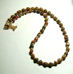 Autumn Jasper Beaded Necklace by PrettyWearJewelry on Etsy, $35.00
