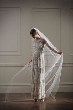 Lace tulle maxi Needle & Thread #wedding #dress #affordable