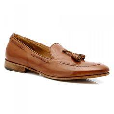 Men's Leather Loafers #aquila #loafer #tassel #italy #fashion #leathersole #leather #Brayshaw #Tan