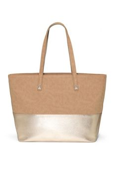 Neutral metallic takes you from day to night in a snap and goes with just about any outfit| Bond Street Tote in Metallic Mink by Stella Dot.    Shop this bag at www.stelladot.com/nicolecordova