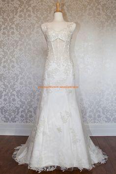 Sexy Extravagante Brautkleider 2013 aus Organza mit Applikation