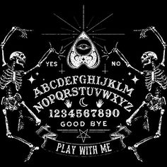 Ouija - play with me Occult Art, Witch Art, Arte Horror, Gothic Horror, Witch Aesthetic, Book Of Shadows, Wiccan, Magick, Pagan