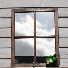 Four Pane Rustic Reclaimed French Window Mirror