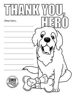 Coloring Page Thank A Military Hero
