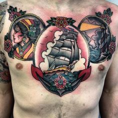 Adam Machin traditional tattoo