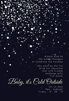 party invitations - Baby, It's Cold Outside