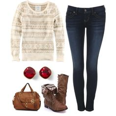 Simple & festive winter outfit!