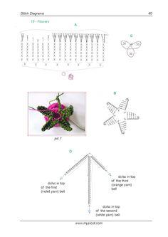 цветы крючком EBook
