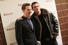 Benedict #Cumberbatch & Luke #Evans at the Bally store opening in London on October 22, 2014.