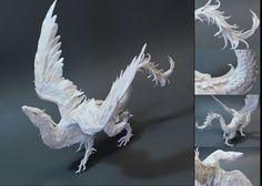 CUSTOM ORDER White Dragon medium by creaturesfromel on Etsy