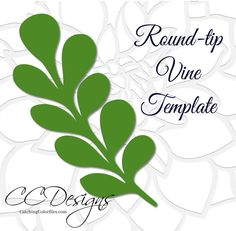 Leaf and vine printable PDF templates and SVG cut files. PLEASE READ FULL DESCRIPTION. THANK YOU. Hand cut or use with your cutting machine. This listing includes: 1 Round Tip Vine as shown. ♥ You will receive the round-tip vine as shown. ♥ Printable PDFs, SVG cut files, DXF files