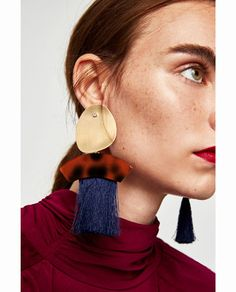 EARRINGS WITH FRINGE AND METAL-View all-ACCESSORIES-WOMAN | ZARA United States