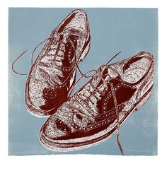 """Brogues"" linocut by Graham Spice."