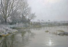 January Fog. Oil painting by Peter Barker.