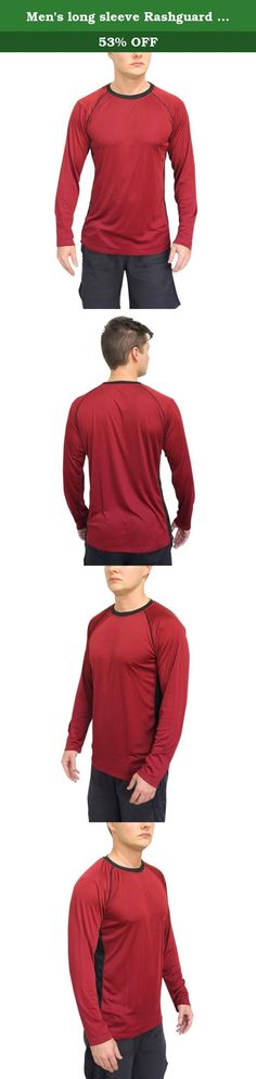 Men's long sleeve Rashguard swim tshirt with UPF 50+ sun protection. UPF 50+ solar (UV) T-shirt The swim tee long sleeve t-shirt is rated UPF 50+, which means it will protect your body even in the hottest sun. You will be free of skin burns caused by harmful UV light, protecting you from any chances of getting skin cancer. 100% microfiber 4.1-ounce Fiber This super light 4.1-ounce Fiber t-shit ensure you can enjoy the cool breeze blowing over your body when you are at the beach. This 100%...