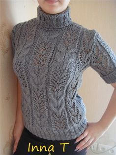 If only I find a pattern some day Diy Crafts Knitting, Sweater Knitting Patterns, Lace Knitting, Knitting Designs, Knitting Stitches, Knit Patterns, Knitting Projects, Crochet Lace, Knooking