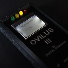 The revolutionary Ghost Box Ovilus III converts environmental readings into real words. Now you can get real words and phonetic responses to your questions. Theories suggest that spirits and other paranormal entities may be able to alter our environment such as electromagnet frequencies, temperature, etc. The Ovilus III takes advantage of this by using these frequencies to choose a response from a preset database of over 2,000 words.