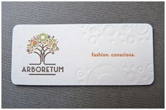 Letterpress business cards by Dependable Letterpress