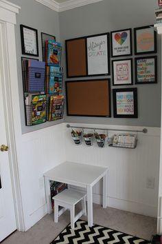 Kids Organized Art Area