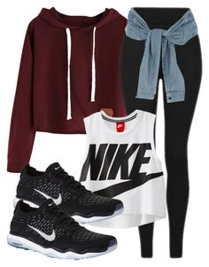 """""""Tyler Inspired Outfit- The Vampire Diaries/ The Originals"""" by fangsandfashion ❤ liked on Polyvore featuring Topshop, River Island and NIKE"""