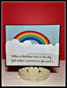 Poppy blog blitz rainbow & cloud border