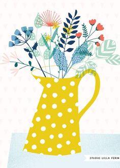 Ideas Flowers Illustration Design Fabrics For 2019 Art Floral, Floral Design, Graphic Design, Floral Prints, Art And Illustration, Floral Illustrations, Pattern Illustration, Flower Patterns, Print Patterns