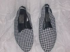 Esprit Black and white Checkered flat shoes by PatsapearlsBoutique, $27.99