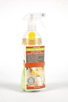 Full Circle Come Clean Natural Cleaning Mini Set | DIY spray cleaner kit. Clean without toxic chemicals.  Includes an amazing recipe book with everything you need to know to make your own cleaning solutions. Built in lemon juicer adds a fresh scent with disinfecting power.