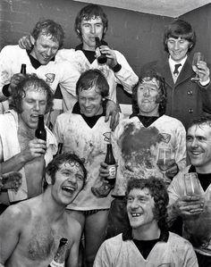 Hereford United celebra eliminación del Newcastle en FA Cup de 1972