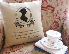 Jane Austen throw pillow :]