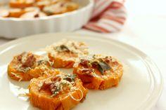 Contorni di verdure: patate dolci al forno con salvia e parmigiano | Junglam
