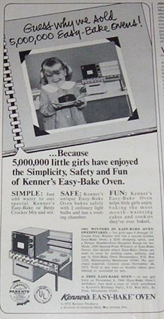 From a great blog post about Easy Bake Ovens