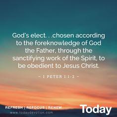 THE HOLY SPIRIT SANCTIFIES US