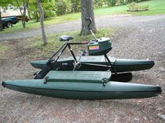 Sportsmen model for the fisherman, hunter. Hydrobikes are good for bow fishing too Kayak Camping, Kayak Fishing, Small Fishing Boats, Kayaking, Canoeing, Fishing Adventure, Bowfishing, Pontoon Boat, Bushcraft