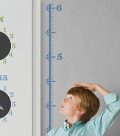 Diy Handmade Charlotte Family Message Center- Growth Chart. You can make your own stencils out of contact