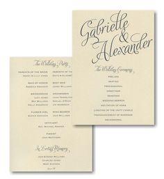 Distintinctive Impressions Wedding Program Card