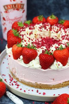 You searched for Bailey's strawberry and cream cheesecake - Jane's Patisserie Baileys Cake, Baileys Cheesecake, Strawberry Cheesecake, Strawberry Recipes, Cheesecake Recipes, Dessert Recipes, Party Desserts, Pear And Almond Cake, Almond Cakes