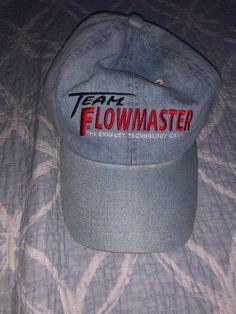 b164c75020be7 Team Flowmaster The Exhaust Technology Company Denim Baseball Cap Hat Adj  Adult  fashion  clothing