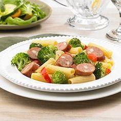 Johnsonville(R) Smoked Chicken Italian Sausage and Broccoli Rigatoni Allrecipes.com