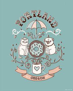 Portland Oregon by Gemma Correll
