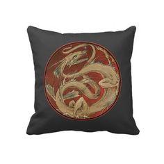 Dragon Lore Art Nouveau Pillows $63.95