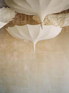 Hanging parasols via Ruche