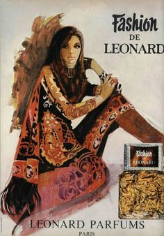 https://flic.kr/p/anE8tv | 70s ad : Fashion, a Leonard perfume | source : L'officiel magazine, n° 578, 1970