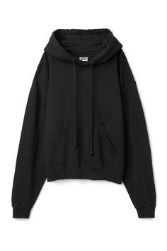 Weekday image 12 of Ailin Hooded Sweatshirt in Black