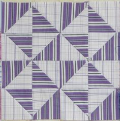 Shirt stripes quilt block  by Quilted Jonquil | Purple April